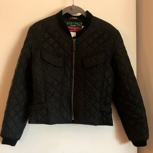 Part Two Outer Wear Quilted Black Jacket